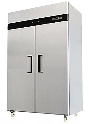 2 Door Stainless Steel Reach In Commercial Freezer - MBF8002