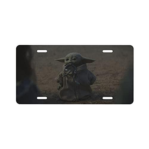 emma lynn matusiak Star Baby Yoda Wars placa de matrícula perfil de aluminio, panel decorativo de 15,2 x 30,5 cm, personalidad general placa de matrícula de coche, estilo callejero