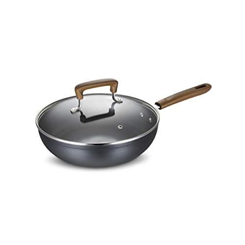 GUYUEXUAN Bratpfanne, Pfanne/Bratpfanne 28CM Steak Pot Flat Iron Wok (Color : Black)