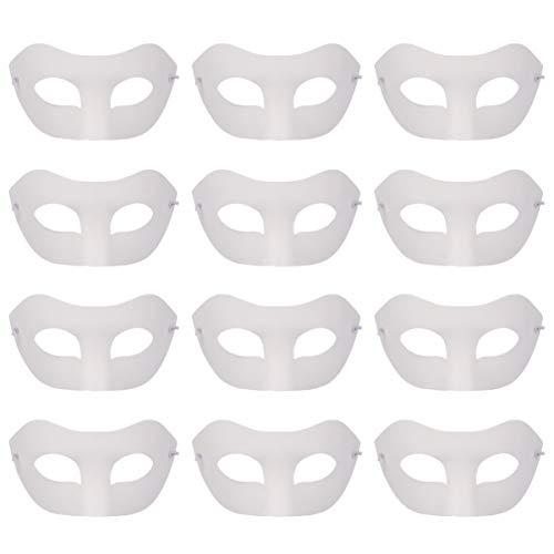 EXCEART 12 Stück gestanzte Mardi Gras Papiermasken DIY blanko Graffiti Masken venezianische Halbmasken Augenmaske für Maskerade Tanzparty (Zorro)