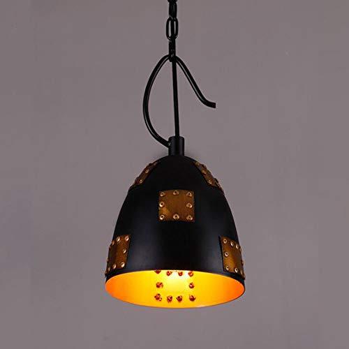 MADBLR7 Moderno LED Colgante de luz de Hierro Hueco de Metal Jaula lámpara Colgante Sala de Estar Restaurante Tienda Bar Tienda de Ropa Accesorio decoración lámpara Colgante Retro Pantalla Negra