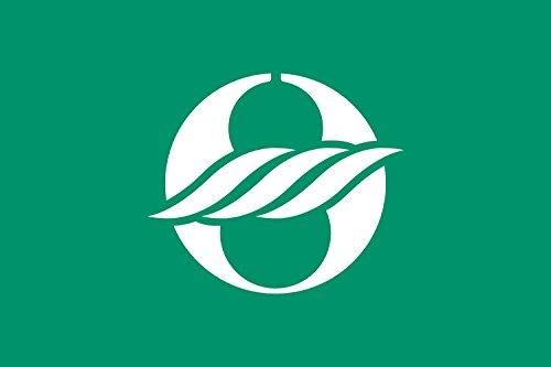 magFlags Drapeau XL Nagahama, Shiga Variant | Nagahama, Shiga Green Background Variant | ???? ?? | Drapeau Paysage | 2.16m² | 120x180cm