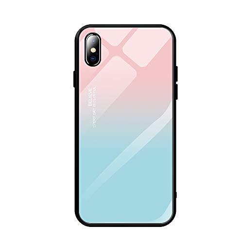 Alsoar Compatible para Xiaomi Redmi 5 Plus Funda Vidrio Templado Protectora Trasera Moda Lindo Patrón Silicona TPU Suave Marco Bumper Carcasas Anti-Rasguño Anti-Shock Cubiertas (Azul Polvo)