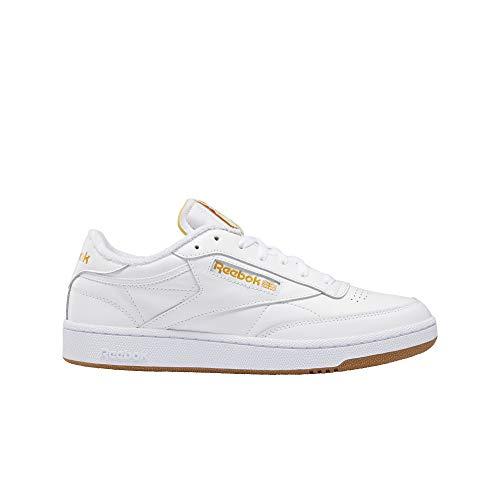 Reebok Classics Club C85 Shoes Herrenschuh White Pale Yellow/Bright Ochre (Numeric_42_Point_5)