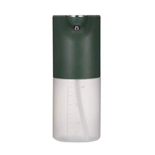 Lecez Dispensador de jabón Inteligente del Sensor, Teléfono móvil de Lavado de Espuma, Dispensador de jabón de desinfección de Alcohol Inteligente, máquina de Espuma, Blanco, Negro, Verde, 19.6x8.5cm