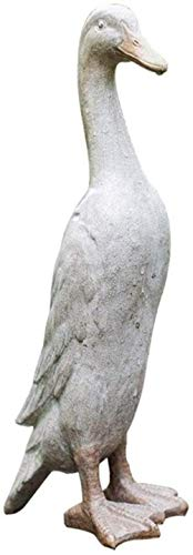 HJTLK Estatua de jardín Adorno de jardín Adornos de jardín Resina para Exteriores Pato Artificial Escultura de jardín Modelo Animal Adornos de Arte Estatua, Simulación al Aire Libre