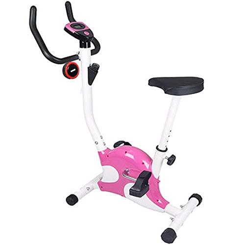Ckrbacy - Bicicleta de spinning para casa, bicicleta de ejercicio silenciosa para interiores, ejercicio, pérdida de peso, fitness, bicicleta, rosa, rosa