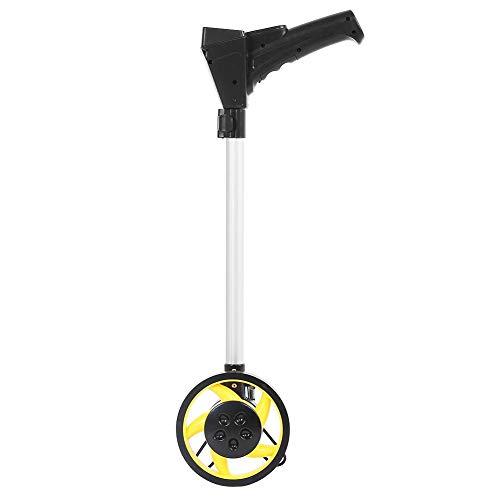 Messrad Distanzmessung, zusammenklappbar, hohe Präzision, mechanisch, Radmessung, mit rutschfestem Rad, dick, Messbereich 0 – 9999,9 m