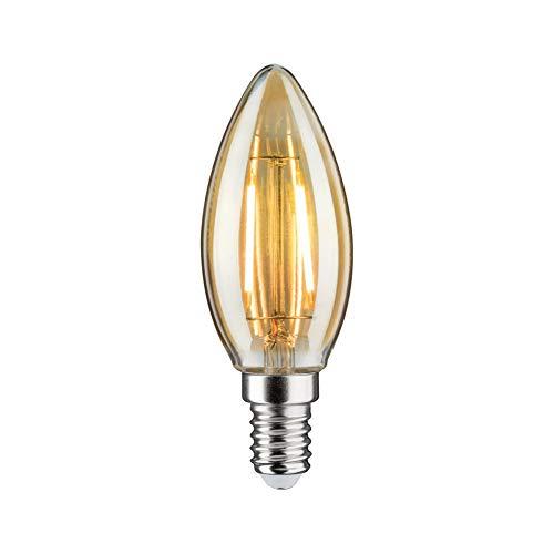Paulmann 28705 LED-lamp filament kaars 4,7 watt lamp dimbaar goud 2500 K goudlicht E14