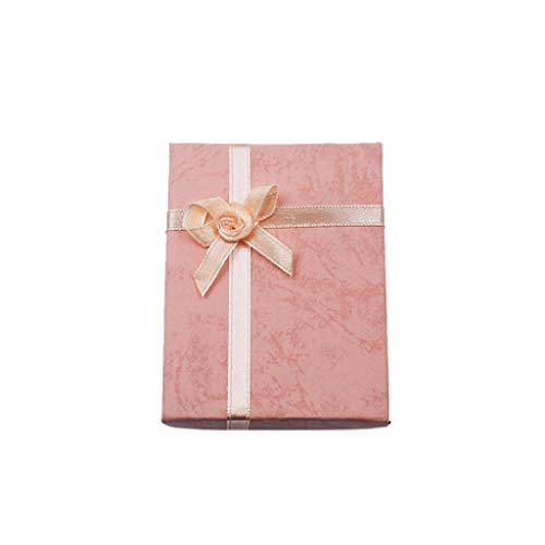 Aofocy Geschenkbox Geschenkverpackung Armband Geschenk für Halskette Anhänger Schmuckkästchen Box (Pink)