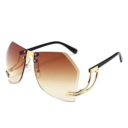 ZQSM Gafas de Sol Sin Marco para Mujer Conducción Turismo Ciclismo Pesca UV400 Gafas de Protección Deportes al Aire Libre Gafas de Sombra-C1