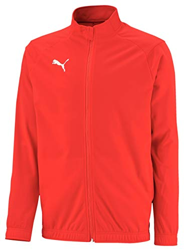 PUMA Jungen Liga Sideline Poly Jacket Core Jr Jacke, Red White, 128