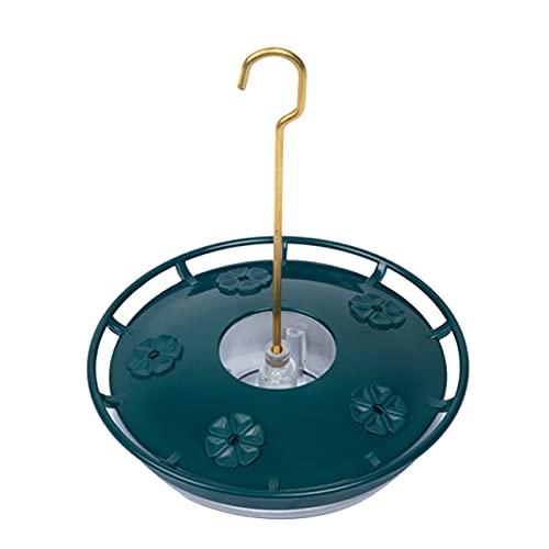Kuyoly Comedero colgante para pájaros de colibrí al aire libre redondo decorativo con gancho de metal para patio trasero