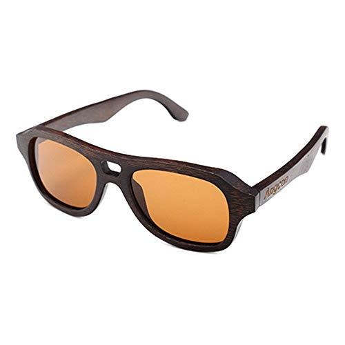 DKEE Gafas de Sol Gafas De Sol Polarizadas Recubiertas De Bambú, Moda, Gafas De Hombre Al Aire Libre, Una Variedad De Lentes De Color con Protección UV400 (Color : Brown)