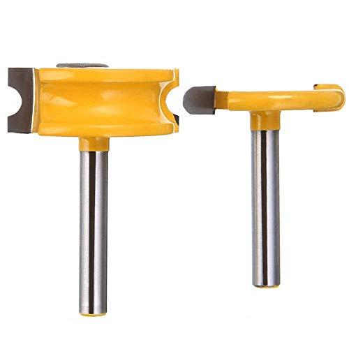 Eyech 1/4 Inch Shank Flute & Bead Router Bit Set Canoe Joint Router Bits Woodworking Cutter Tools