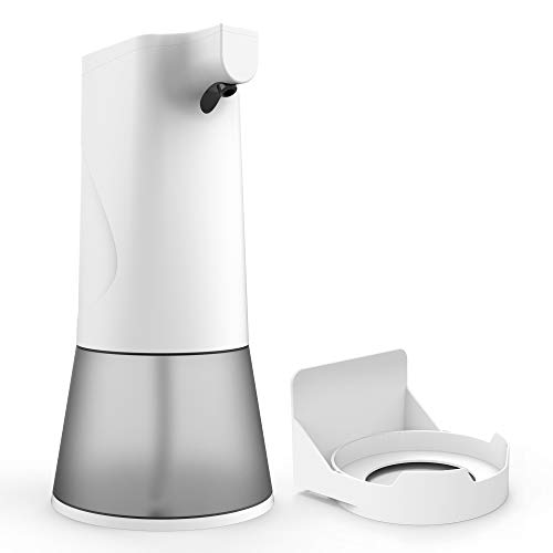 Poesy Seifenspender Automatisch, Elektrischer Schaumspender mit 2 Flüssigkeitsstand,Seifenspender Wandmontage Sensor Infrarot,Berührungslos Schaumseifenspender für Bad, Küche, Öffentlicher Ort