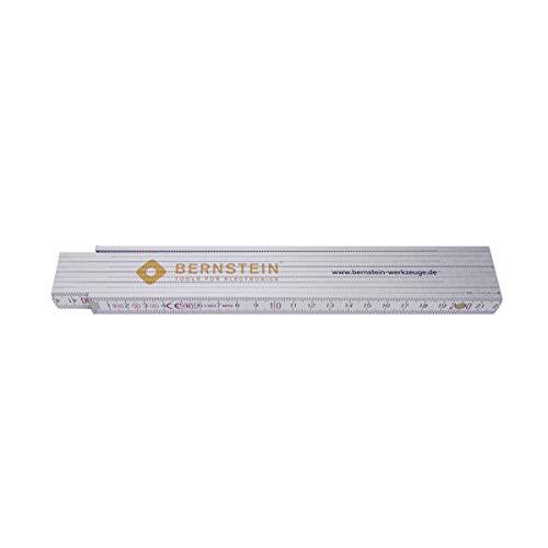 Bernstein Werkzeug GmbH 7-502 Zollstock, 2 m (Holz), weiß