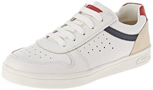 Geox J DJROCK Boy A, Zapatillas, Color Rojo Blanco, 38 EU