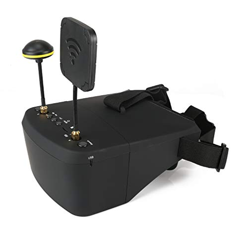 FPV Goggles with DVR EV800D 5.8G 40CH 5 Inch 800x480 Diversity Video Headset Build in Battery