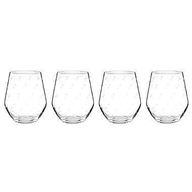 kate spade new york Larabee Dot Stemless White Wine Glass Set - 4 ct