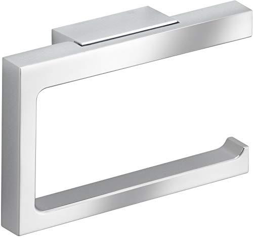 KEUCO Toilettenpapierhalter aus Metall, hochglanz-verchromt, offene Form, WC-Rollenhalter für Badezimmer und Gäste-WC, Edition 11