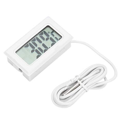 Logicstring Mini Portátil Convenientlcd Refrigerador Congelador Refrigerador Termómetro Digital Medidor De Humedad Temperatura -50~110 ° C Blanco (Blanco)