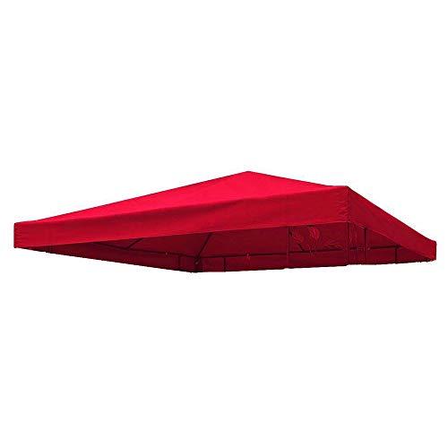 Keyohome - Carpa de 3 x 3 m, impermeable, anti-UV, de tela Oxford, lona de repuesto para cenador de jardín y exterior, rojo