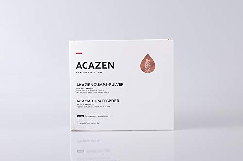 ACAZEN Acacia Gum Powder (Arabic Gum) - 150g (30 Sachets of 5g) – Food Supplement with high Fibre- 100% Plant-Based – Manufactured in Germany – Vegan, Gluten-Free, Natural