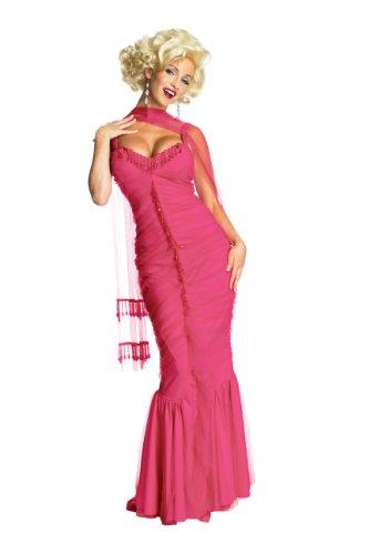 Womens Marilyn Monroe Material Girl Dress, Pink, 4 Sizes