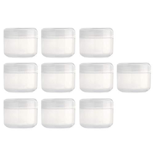 Sharplace 10 pièces Pot Vide Cosmétique en Plastique Bocaux Stockage de Crèmes Échantillon Vide - Clair-100g