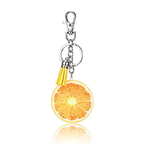 Sperrins Frucht Schlüsselanhänger Apfel Tomate Orange Ananas Form Schlüsselbund für Partybevorzugungen und Kinder Schule