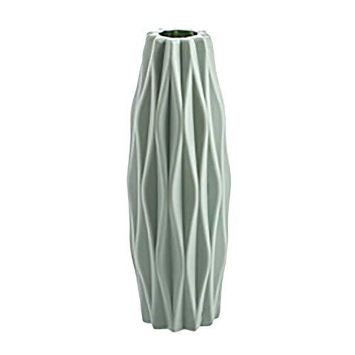Geometrische Origami Vase, Moderne Kunststoff Blumenvasen mit Home Einfachheit Nordic Minimalism Blume, Origami-Form für Hotel, Zuhause, Café Tischdekoration (Grün)
