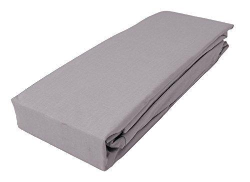 gris argenté King Size 152cm x 200cm + 25cm Mélange de coton Drap housse