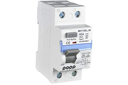 POPP® Electric Interruptor diferencial industrial TIPO AC