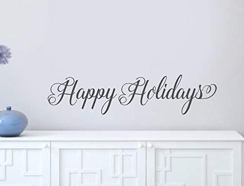 Fijne Feestdagen Muurstickers Kerstmis Holly Voorportiek Vinyl Lettering Woorden Muursticker Deur Decal Huis Decor itswritteninvinyl