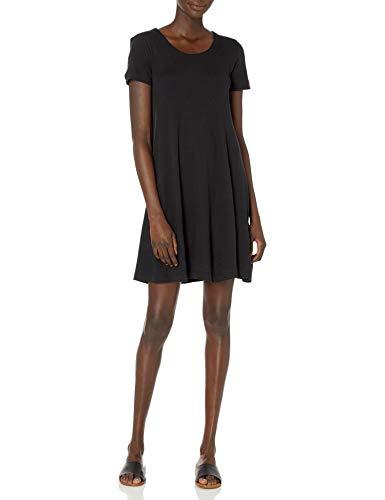 Amazon Brand – Daily Ritual Women's Pima Cotton and Modal Short-Sleeve Scoop Neck Dress