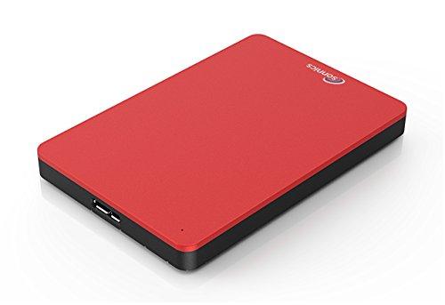 Sonnics 250GB Rot Externe Festplatte USB 3.0 Super Schnelle Übertragungsgeschwindigkeit für Verwendung mit Windows PC, Apple Mac & Xbox 360