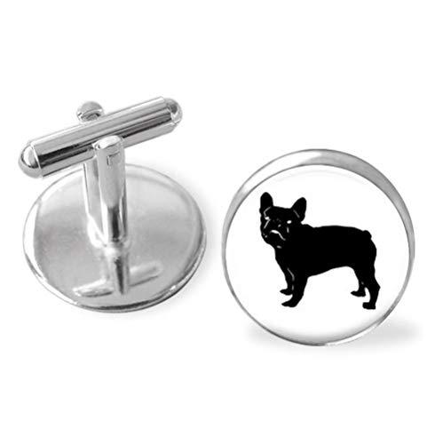 Goodnight cat French Bulldog's Photo Dome Glass Ornaments, Personalized Cuff Links,Unique Gift