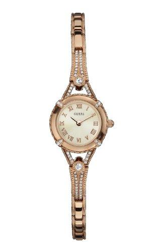 Guess Reloj Análogo clásico para Mujer de Cuarzo con Correa en Acero Inoxidable W0135L3