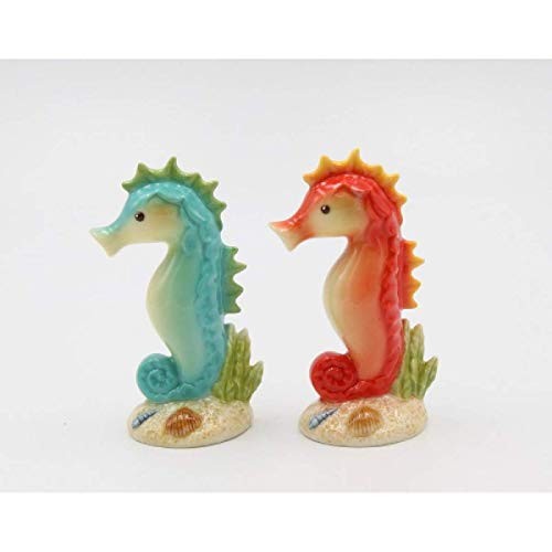Cosmos Gifts 20784 Seahorse Salt and Pepper Shaker, One Size, Green