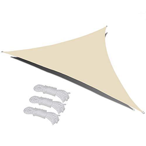 RTWAY Toldo triángulo para toldo de vela con bloqueo UV del 95%, tela de tela de tela de tela de tela Oxford, impermeable para patio y exterior