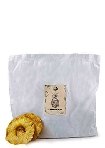 KoRo - Anillos de piña 1 kg - Fruta deshidratada sin azúcar y sin azufre en paquete de ahorro