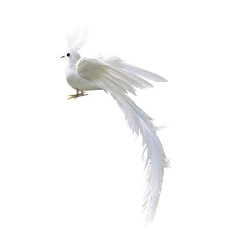 Sharplace Realistische Künstliche Feder Vogel Garten Dekor Figur - Phoenix, 35x8x6cm