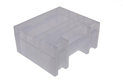 ANSMANN Batteriebox für AAA Micro, AA Mignon, C Baby, D Mono & 9V Block Akkus und Batterien - Praktische Akkubox zum Schutz & Transport für 35 Accus - Batterie Box & Akku Box zur Aufbewahrung