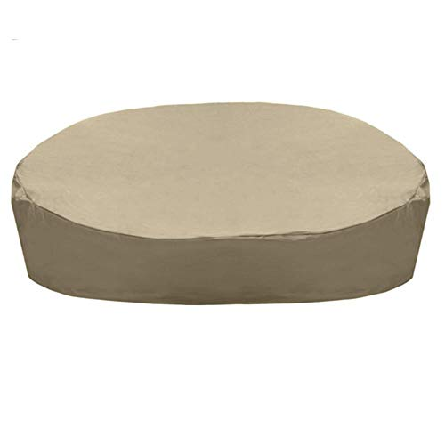 RecoverLOVE Patio Daybed Cover Waterproof Round Canopy Daybed Sofa Cover Lightweight Patio Furniture Cover Weatherproof Veranda Round Sofa Cover for Home