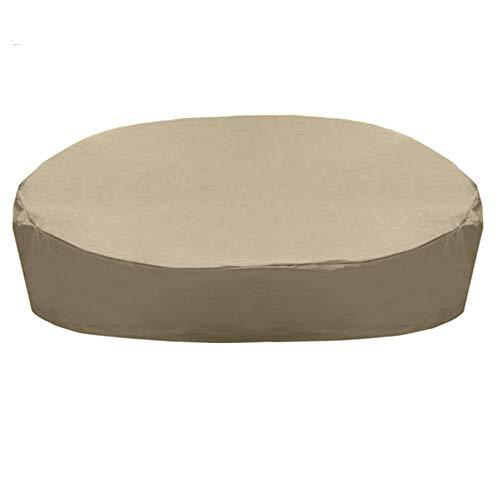 arthomer Cubierta de Lona para sillas de jardín Sofá al Aire Libre Impermeable Sofá Cama Cubierta de Polvo Ligero para Uso doméstico