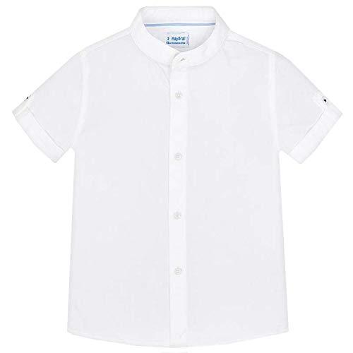 Mayoral - festliches Kurzarm Jungenhemd, weiß - 3.135w, Größe 134