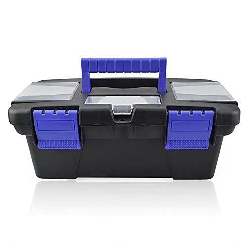 Caja de herramientas Pequeña caja de herramientas con complemento de mango Organizador de almacenamiento Caja de herramientas Reparación de Hardware Soldadura Accesorios de Hierro Caja de herramientas