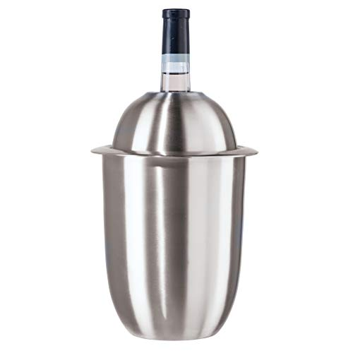 Oggi Stainless Steel Double Wall Insulated Wine Cooler, 2 Quart, Silver