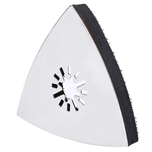 1pc 80mm Almohadillas de Lijado Metálicas Almohadilla de Lijado de Pulido Triangular Herramientas Abrasivas Oscilante Multi Herramienta para Multimaster